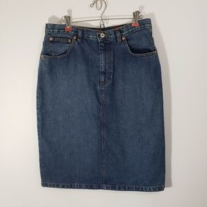Orvis Women's Cotton Denim Skirt Sz 10